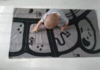 Gri Hayvan Bebek Yol Araba Parça Tırmanma Paspaslar Çocuk Bebek Battaniye Kapak Kızlar Gelişmekte INS Halı tapis lapin Yer Minderi