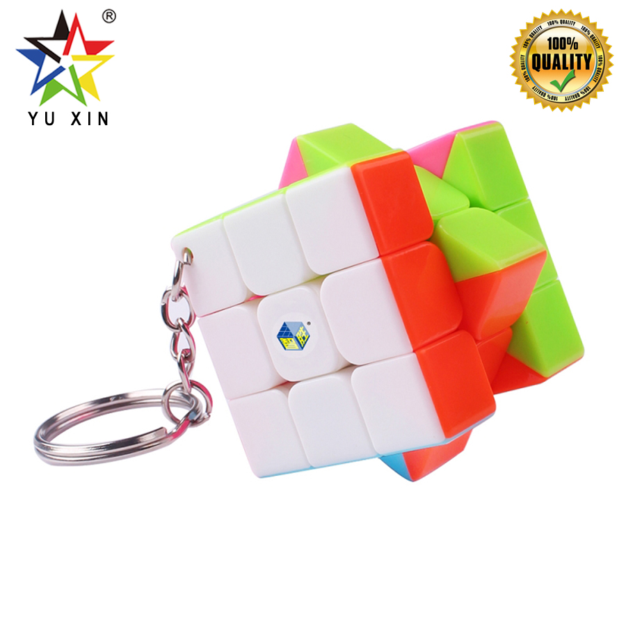 2019 YUXIN Mini Magic Cube 3x3x3 Competition Speed Puzzle Cube Key Chain Accessories Puzzle Cubo Magic Mini Keychain Decorations