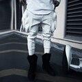Hot 2017 verão nova moda masculina marca casual retro vintage bolso grande borla do punk harem pants traje boate calças