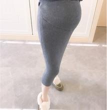 Skirtskirt длины вязаный шерсть шаг половина один юбки юбка беременных зима