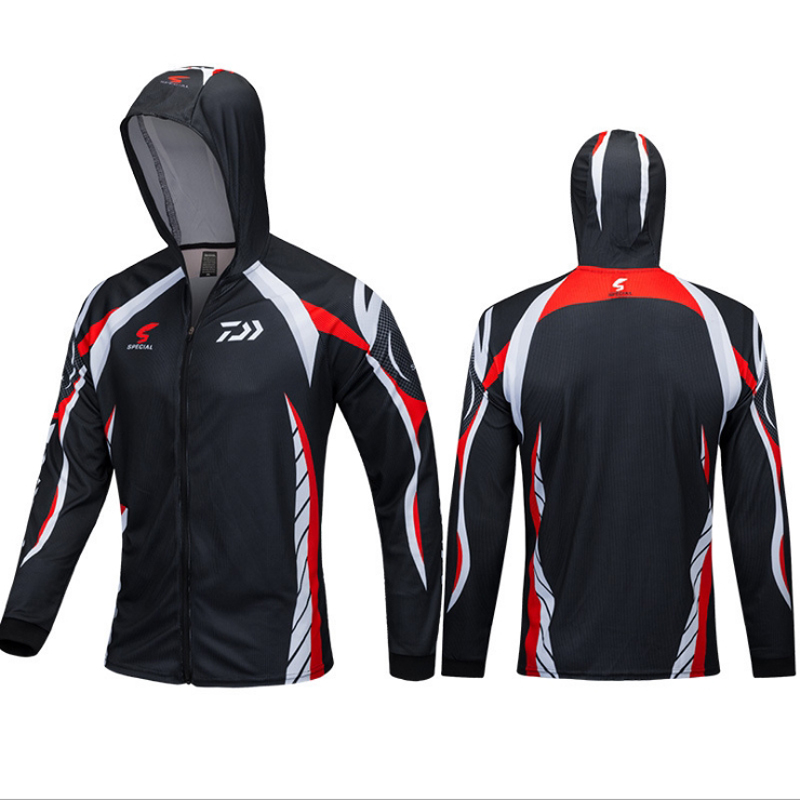 3 Colors Available 2018 DAIWA New outdoor fishing hoodie top quick drying breathable hiking trekking sunscreen shirt send gift in Fishing Clothings from Sports Entertainment