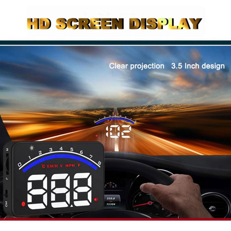 M6 HUD Head Up Display Car-styling Hud Display Over-speed Warning Windshield Projector Alarm System Universal Auto New