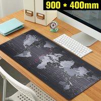 900x400mm Wereldkaart Snelheid Toetsenbord Muismat Grote Mat Grote Size Rubber Mat Computer Gaming Mousepad Gamer tafel Mat