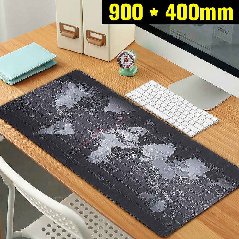 900x400mm World Map Speed Keyboard Mouse Pad Big Mat Large Size Rubber Mat  Computer Gaming Mousepad
