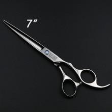 7 pulgadas Profesional Tijeras de Corte de Pelo de peluquería Barber Salon Pet dog grooming Tijeras BK035