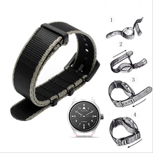 2019 New French Troops Parachute Bag For Nato Elastic Nylon Belt General Brands 20 22MM Wacthband watch Strap Band
