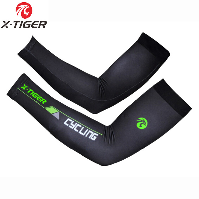 X-TIGER Breathable Cool Cycling Sleeves Arm MTB Bike Bicycle Arm Warmer UV Protection Sleeves Fishing Golf Running Arm Warmwers