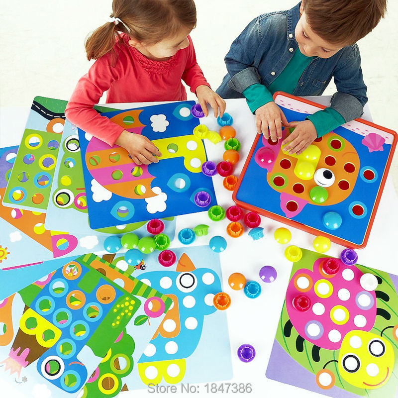 Top Trending Toys For Boys : Aliexpress buy diy d puzzles button art color