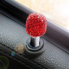 2 шт. Универсальный Автомобильный Дверной замок Защитная крышка подъемный болт Алмазный алюминиевый сплав белый розовый красный черный синий Сияющий Цвет Новинка 8Z