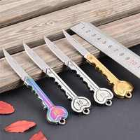 Mini clé couteau tactique Camp extérieur porte-clés anneau porte-clés pli ouvert ouvre poche auto-défense sécurité Multi outil arme boîte
