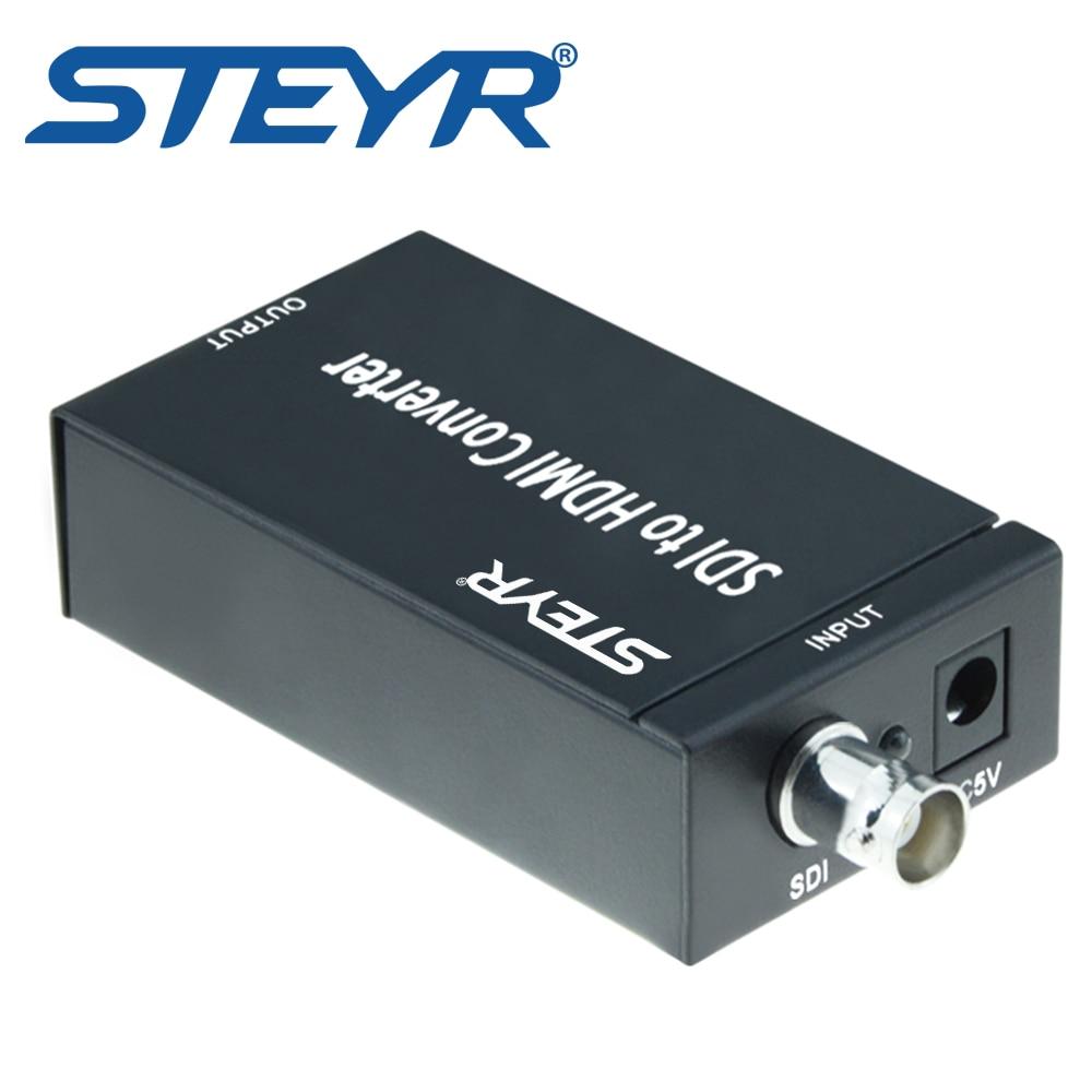 STEYR SDI to HDMI Converter Mini 3G SDI HDMI Adapter-Full HD 1080P BNC SDI to HDMI HDTV Video Audio Converter 720p/1080p sdi to hdmi dvi vga cvbs composite converter sdi to all adapter bnc sd hd 3g sdi to hdmi dvi vga cvbs r l scaler converter 1080p