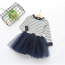 AJLONGER New Spring Autumn Girl Party Dress Birthday Girls Dresses Tutu Style Princess Clothes недорого