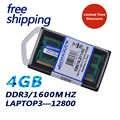 Kembona garantia de vida! 1.35 v ddr3l 1600 mhz ddr3 PC3-12800 4 gb SO-DIMM memória módulo ram memoria para portátil