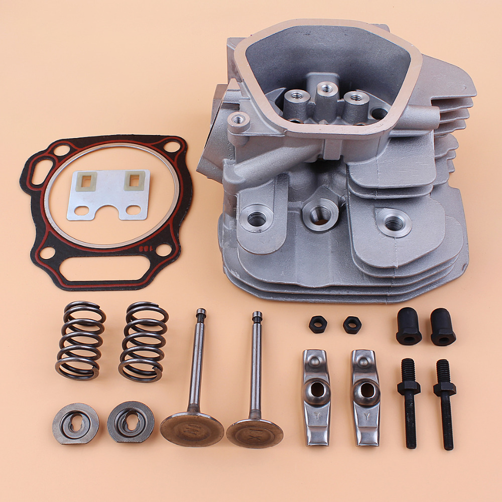 все цены на Cylinder Head Valve Rocker Arm Kit For For Honda GX340 GX390 Chinese 188F 182F 11/13HP 5~6.5KW Gas Motor Generator 12200-ZF6-406 онлайн