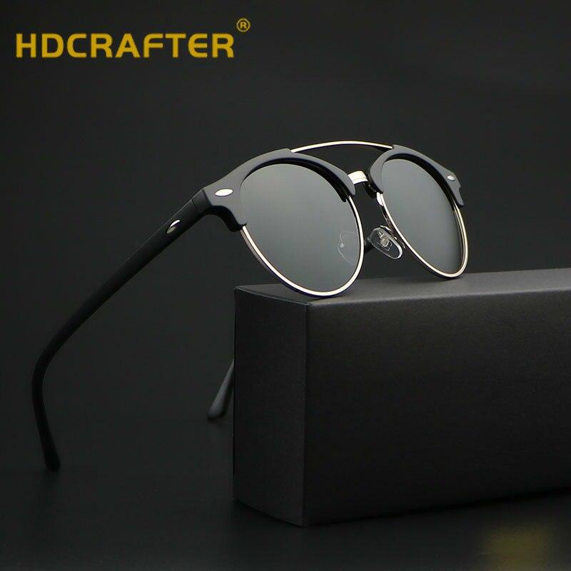Sunglasses Men Women polarized 2018 Round brand design Sun Glases for male Female Ray lunette de soleil femme oculo