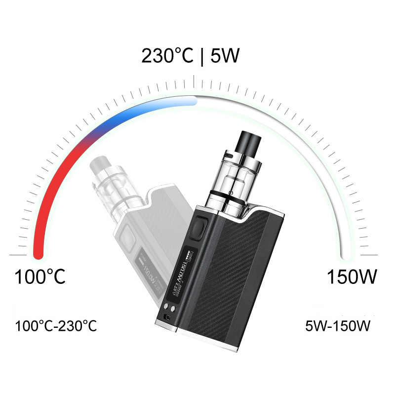 新ポーラーナイト 150 ワット液体電子タバコキット led 気化器 2 ミリリットル 1500 mah 150 w e タバコ蒸気を吸うボックス mod キット水ギセル vaper