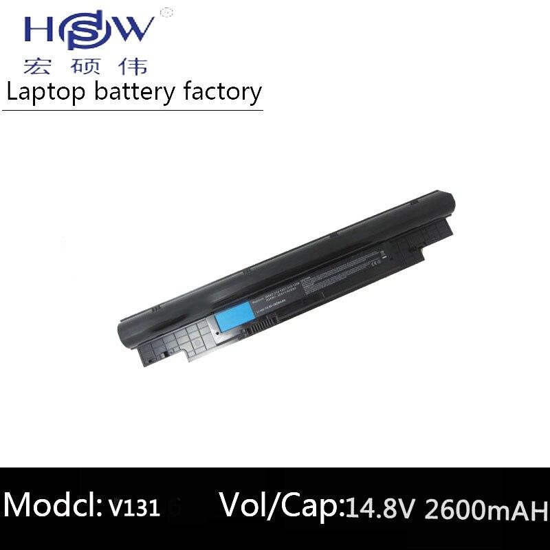 HSW 14.4V 2600mAh battery For Dell Inspiron N311z N411z Vostro V131 V131D V131R H2XW1 H7XW1 JD41Y N2DN5 268X5 312-1257 312-1258 HSW 14.4V 2600mAh battery For Dell Inspiron N311z N411z Vostro V131 V131D V131R H2XW1 H7XW1 JD41Y N2DN5 268X5 312-1257 312-1258