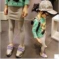 Nuevo otoño niños falda Leggings venta al por mayor polainas de la falda de venta al por mayor