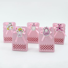 AVEBIEN 24pc Cartoon Hollow Girl Birthday Party Supplies Baby Shower Candy Box Gift Sweet for Guest Chocolate Paper