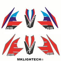 Motorcycle Fender Beak Fuel Tank 3D Silicone Sticker Cover Decal TANK PAD for BMW R1200GS ADV