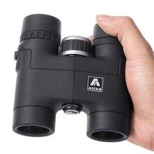 Мини 8x32 компактный бинокль для наблюдения за птицами HD военный телескоп для охоты и путешествий с ремешком высокого прозрачного видения черный