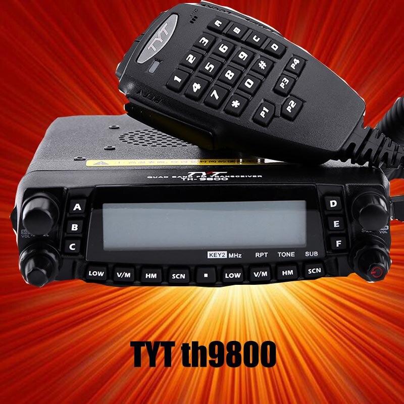 TYT TH 9800 29 50 144 430 MHZ TRANSCEIVER Mobile Car Radio TH9800 Quad band car