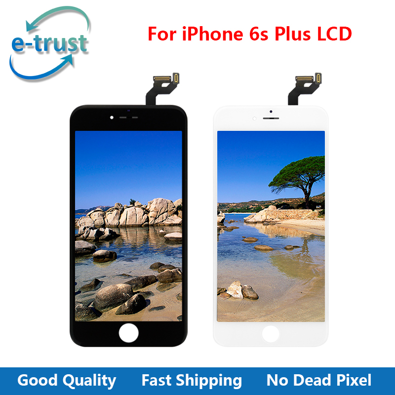 Black/White Color Grade AAA+ Quality LCD Display For iPhone 6s plus Touch Screen Digitizer Assembly Parts With Free Shipping 10pcs lot grade aaa pantalla black white for iphone 5c lcd display with touch screen digitizer assembly in stock free shipping