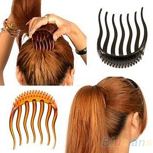 Bump It Up Volume Inserts Hair Clip For Ponytail Bouffant Styles Hair Comb AWPD ...