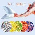 1 caja de born pretty 2g de escamas de pescado lentejuelas uñas lentejuelas sirena hexagonal glitter manicura de uñas consejos decoraciones del arte