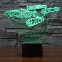 Star Trek Enterprise 7 Color LED Night Light