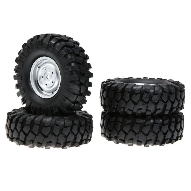 4pcs/set 112mm RC Tires 1/10 Crawler Car Universal Vehicle Model Silver Rubber Tyre for Monster Truck RC Accessories 4pcs set rubber tyre tires