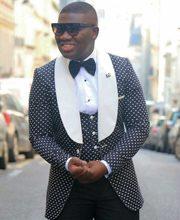 a49aa71c2674 2018 nueva llegada la cena trajes para hombre padrinos blanco solapa  esmoquin de novio negro de fiesta de boda mejor traje de ho.