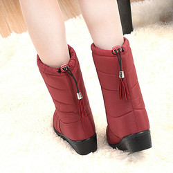 Winter Women Boots Mid-Calf Down Boots Female Waterproof Ladies Snow Boots Girls Winter Shoes Woman Plush Insole Botas Mujer 5