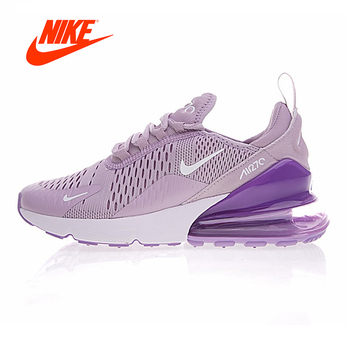 Original New Arrival Authentic Nike Air Max 270 Women's Running Shoes Sneakers Purple White Shock Absorption Non-slip AH8050-510