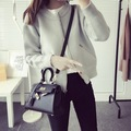 De DoveWinter New College Wind wild knit cardigan sweater women long sleeve solid color zipper cardigan jacket