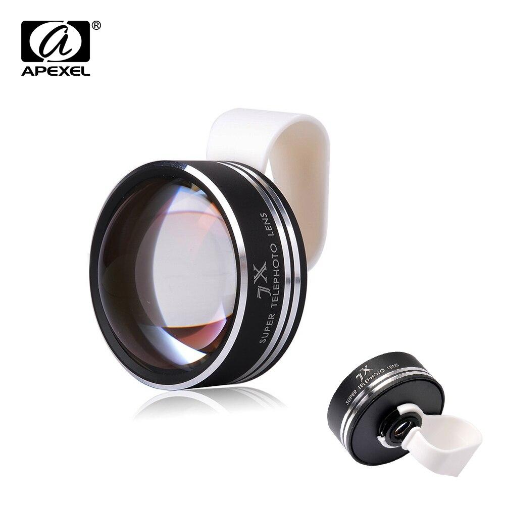 imágenes para Clip universal 7x teléfono lente de la cámara teleobjetivo telescopio para iphone 6 4 5s samsung teléfonos móviles telescopio óptico apl-7xst