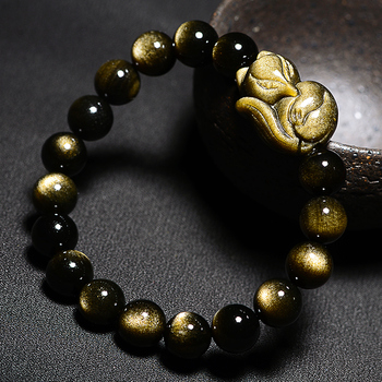 Obsidienne Dorée Bracelet