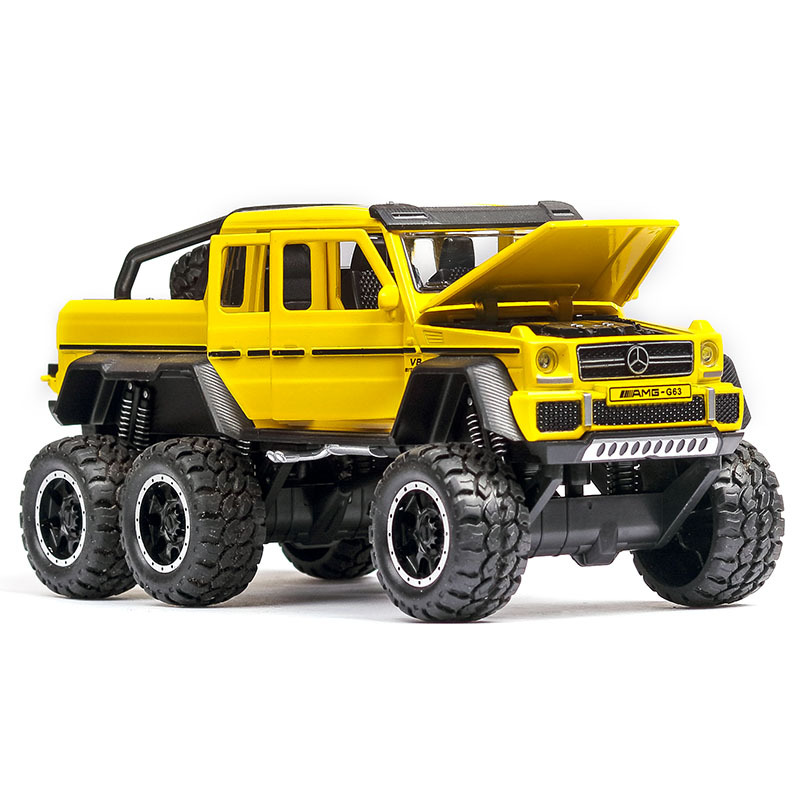 1:32 Car Model Benz G63 Off-road Vehicle Alloy Car Model Simulation Sound And Light Pull Back Car 6 Open Door Toy Car Gift