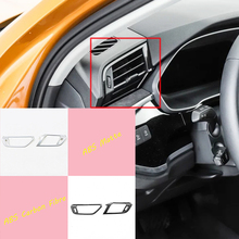 ABS Matte/Carbon fibre For Audi Q3 2019 2020 high-quality Car left and right air outlet Cover Trim Car Styling Accessories 2pcs for audi q3 2019 2020 abs matte carbon fibre car front column sound decoration cover trim car styling accessories 2pcs