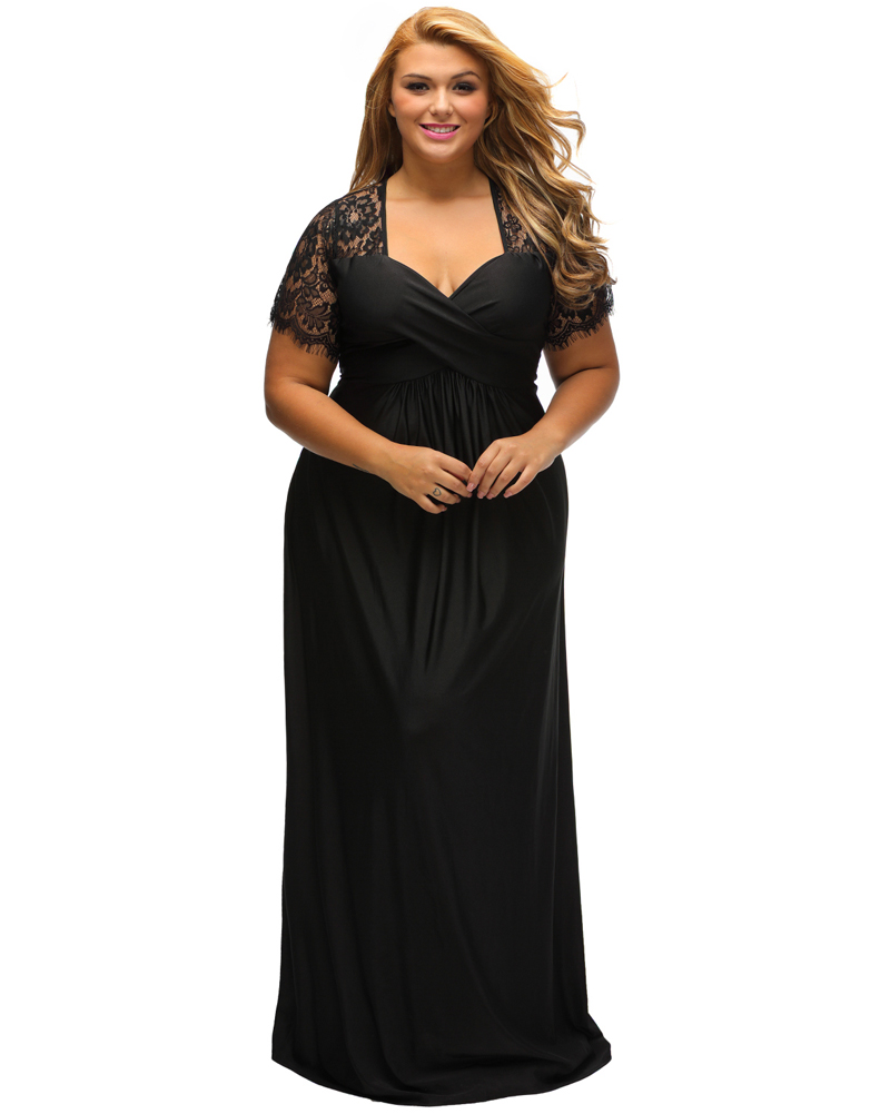 33978865525 Plus Size Maxi Dresses With Short Sleeves - Gomes Weine AG
