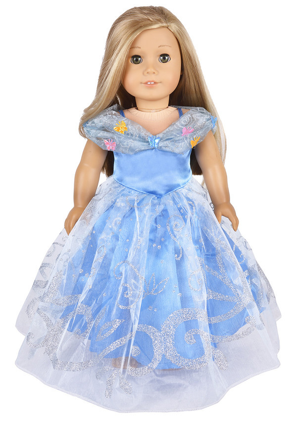 New Elegant Princess Party Off shoulder Dress Clothes For 18 American Girl Handmade
