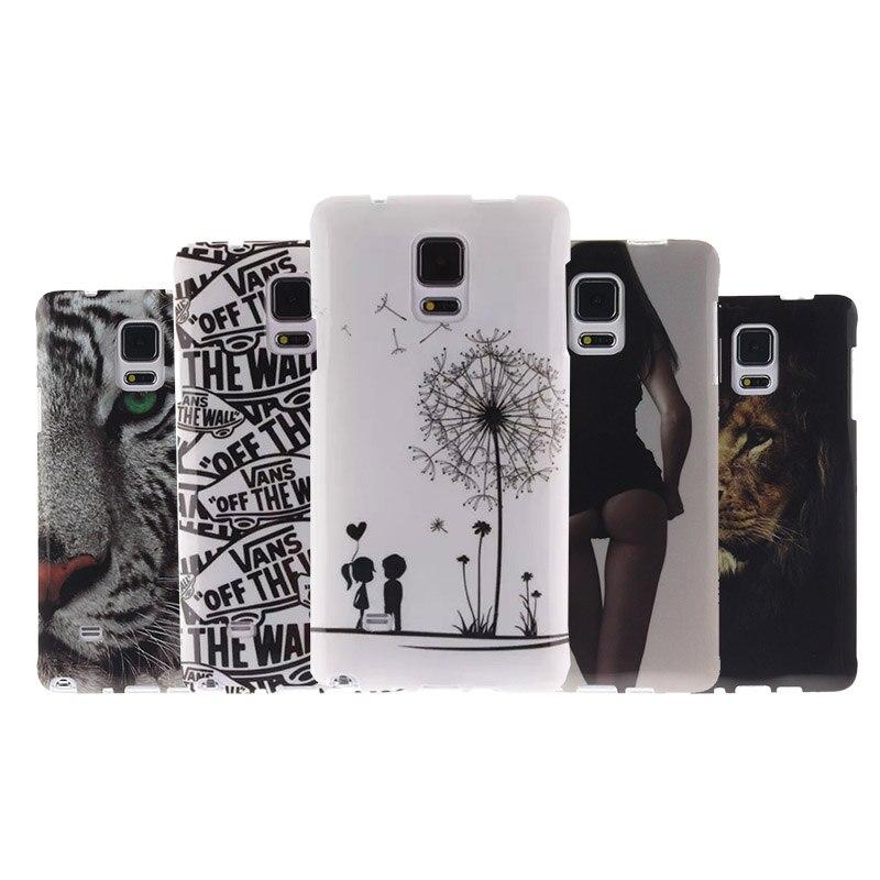 Для Samsung Galaxy Note 4 N9100 Силиконовый противоударный телефон задняя крышка кожи Сумки Мода Ультра тонкий гель Мягкий ТПУ узор чехол
