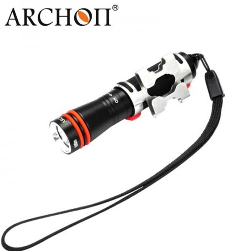 Luz de mergulho Subaquático lanterna Mini D1A Lanterna LED * XP-E R3 Max 75 Lumens ARCHON Lampe Torche Mergulho Luzes