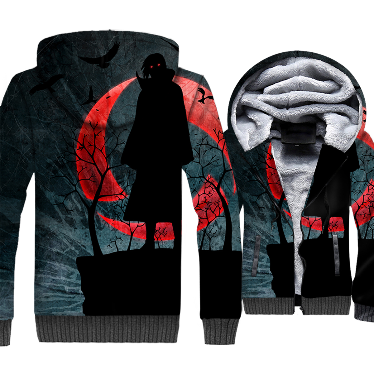 Tokyo Ghoul Hoodie Kaneki Ken Jacket 3D Men Anime Sweatshirt 2018 New Brand Winter Thick Fleece Warm Zipper Coat Plus Size 5XL