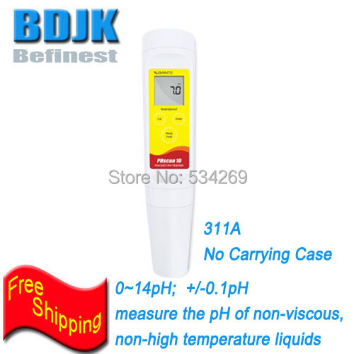 0~14pH Accuracy 0.1pH Waterproof Portable PH Meters Measuring the Ph of Non-high temp. Non-viscous liquids цена