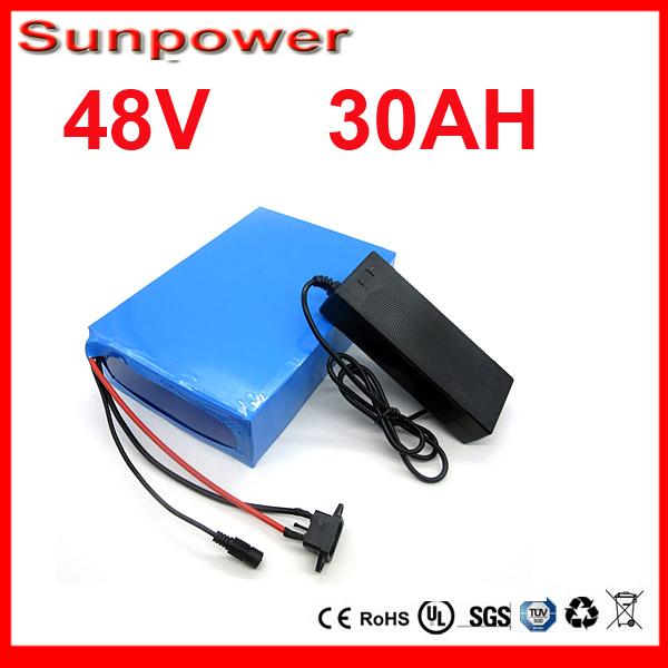 48v battery bicycle ebike battery pack  48V 30AH 500 TO 2400W Electric Bicycle Battery Scooter E-Bike  For Samsung 3000mah cell