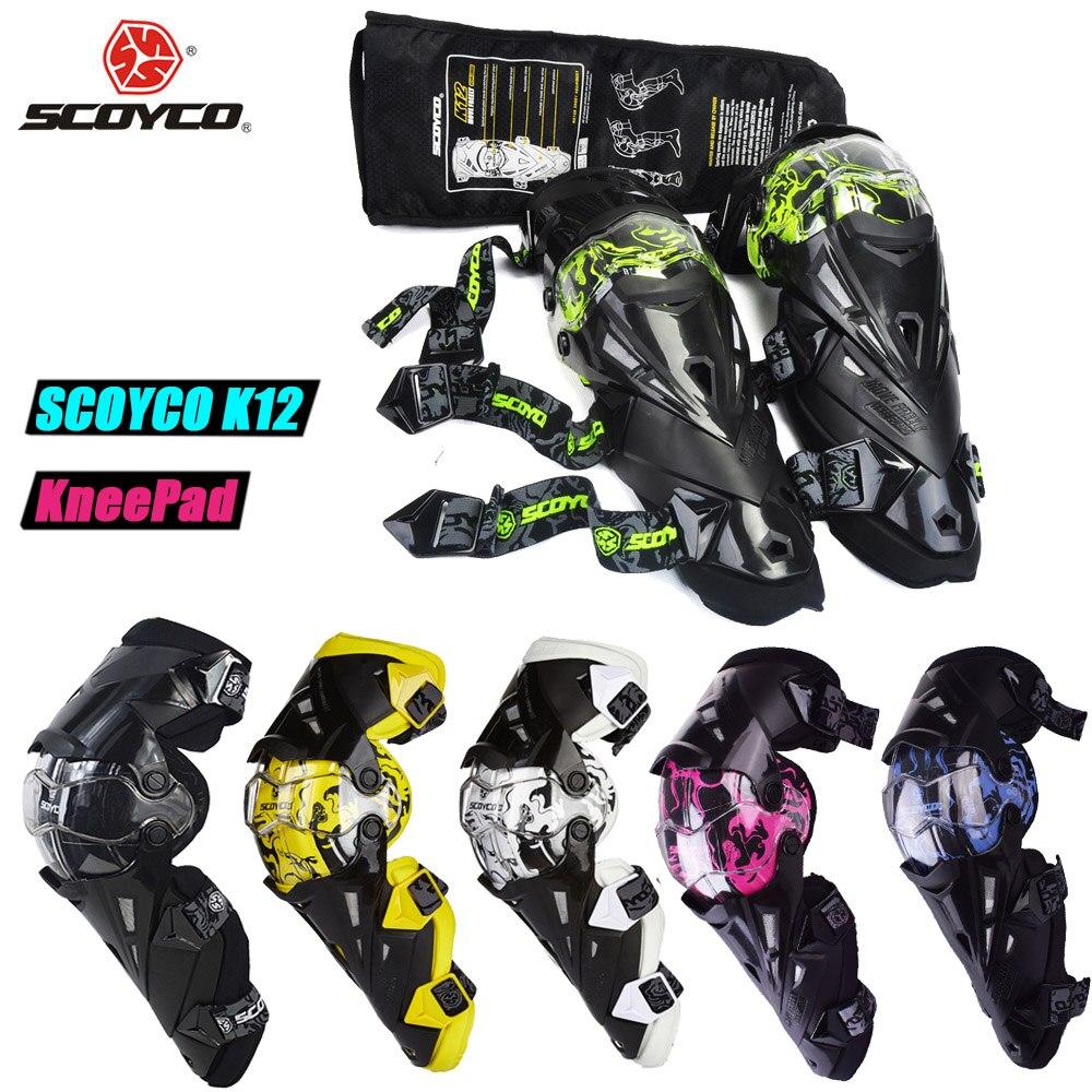 SCOYCO Moto Motocross genouillères protections engins Motosiklet Dizlik Genouillere Moto Joelheira genouillères de protection