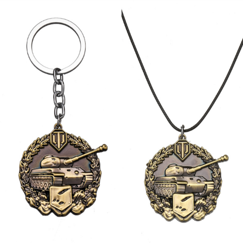 Spartan Medal Cool Model keychain Game World Tanks Key chains For Women Men Jewelry car Keychain Chaveiro llaveros