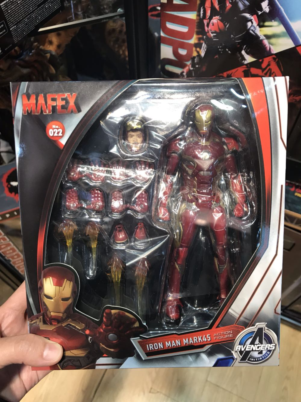 Les Avengers IronMan figurine d'action modèle MK45 fer homme poupée PVC ACGN Figure jouet Brinquedos Anime enfants jouets