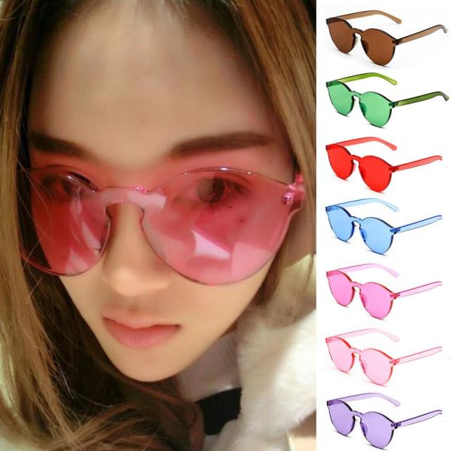 652905167b0a 2018 Unisex No Frame Women Sunglasses Cat Eye UV400 Anti-UV Fashion  Transparent Glasses Candy Color Glasses Summer Goggles